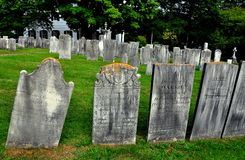 Lenox, MA: Gravestones at Church on the Hill Stock Image