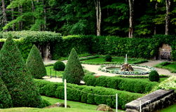 Lenox, MA: Italian Walled Garden at The Mount Royalty Free Stock Image