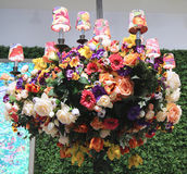 Lenox by Mello Tablescape flower decoration during famous Macy's Annual Flower Show Stock Photos