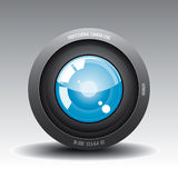 Lens 1. Camera Lens 1 Vector Drawing Stock Illustration