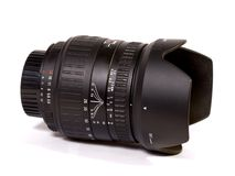 Lens. Zoom lens 28-135 mm Royalty Free Stock Photography