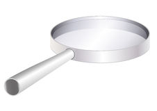 Lens. Magnify instrument exploration in white background Stock Image