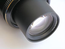Lens. Close-up of lens - on white background royalty free stock photos
