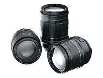 Lens. Cg lens isolated on a white background Stock Image