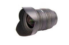 Lens. Camera lens over a white background Stock Image