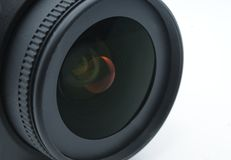 Lens. Zoom lens against white background Royalty Free Stock Photo
