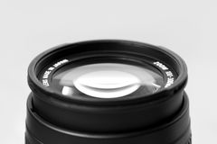 Lens. Zoom lens 100 - 300 mm Stock Photography