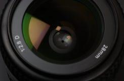 Lens. At minimum aperture stock photo