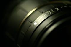 Lens. Closeup of a lens barrel Royalty Free Stock Photo