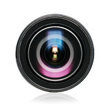 Lens. Digital camera lens isolated on white Royalty Free Stock Photos