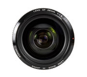 Lens. Camera lens front shot isolated on white background Stock Photo