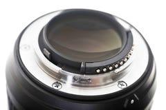 Lens. Bayonet of digital single-lens reflex camera objective Royalty Free Stock Photo