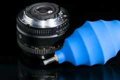 Lens and Air blower Stock Photos