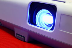 Free Lens And A Blue Beam Projector Stock Photos - 34301263