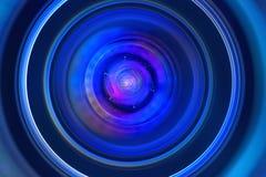 Lens aperture macro. Photography lens close-up bluish hue stock images