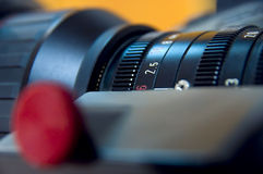 Lens aperture scale stock photo