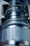 Lens aperture scale. Close up of a lens - aperture scale royalty free stock photo