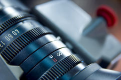 Lens aperture scale. Close up of a lens - aperture scale royalty free stock image