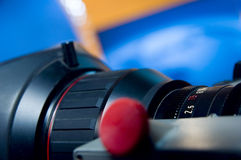 Lens aperture scale. Close up of a lens - aperture scale royalty free stock photos