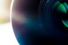 Lens av en makro för SLR kameranärbild Royaltyfria Bilder