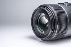 Lens av en SLR kameranärbild med en reflexion Fotografering för Bildbyråer