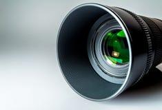 Lens av en SLR kameranärbild med en reflexion Arkivbild