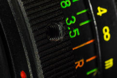 The lens bayonet close-up Stock Images