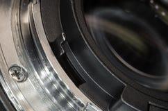 The lens bayonet close-up Stock Photo