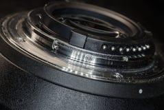 The lens bayonet close-up Royalty Free Stock Photo