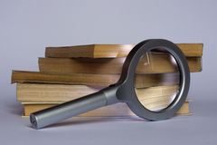Lens. The beauty of reading and culture royalty free stock image