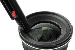 Lens and brush Stock Photos