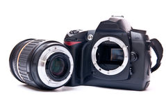 Lens and camera Stock Image