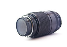Lens for the camera. On a white background Royalty Free Stock Image