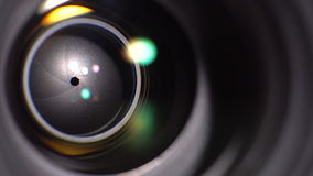 The lens of the camera. Close-up stock video footage