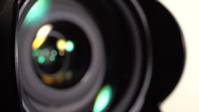 The lens of the camera. Close-up stock footage