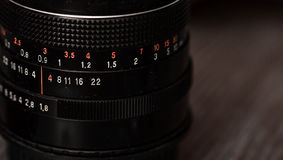 Lens for the camera closeup Royalty Free Stock Photo