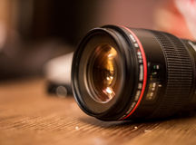Lens for the camera closeup Stock Images