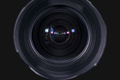 Lens for camera digital with dark background royalty free stock photography