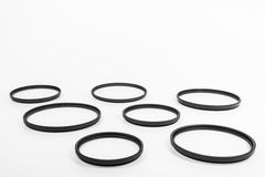 Lens camera filters Stock Image