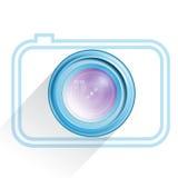 Lens, camera icon, blue. Vector. Lens, camera icon blue, vector image Royalty Free Stock Photo