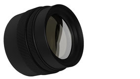 Lens for Camera. Lens for the Camera isolated on white background Stock Photo