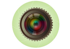Lens camera photo. Technology vector Stock Images