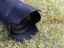 Lens camera. Take photo  in park garden Stock Images