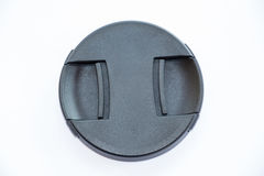 Lens cap on a white background Royalty Free Stock Photo