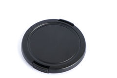 Lens cap on white background Royalty Free Stock Photography