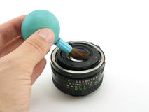Lens Cleaning stock images