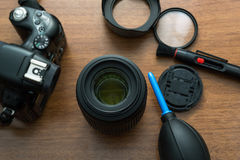 Lens Cleaning Royalty Free Stock Photos