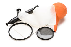 Lens cleaning tools Stock Photos