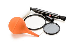Lens cleaning tools Royalty Free Stock Photo