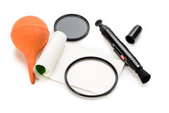 Lens cleaning tools Stock Images